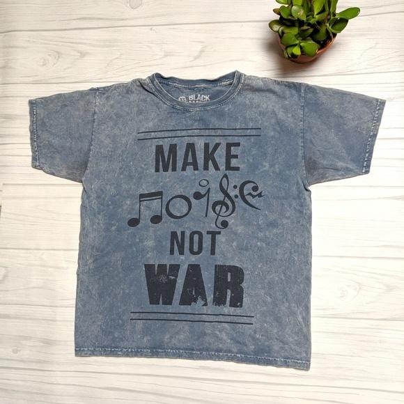 Black Matter Tops   Make Music Not War Blue